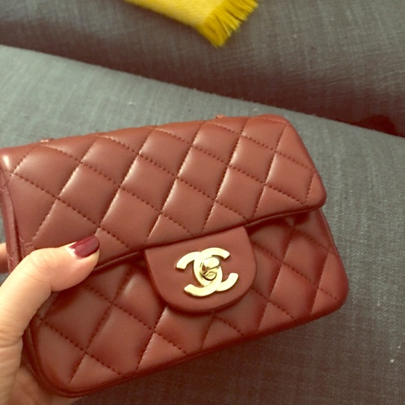 1cb9a948c337 CHANEL Bags | Burgundy Square Mini In Lambskin With Ghw | Poshmark